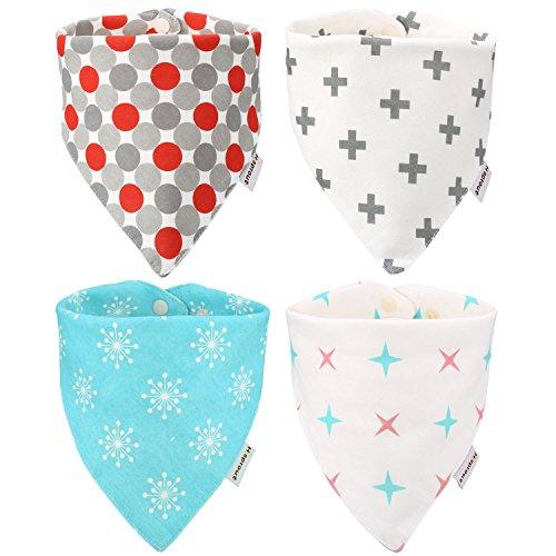 itaar-bebe-bavoirs-bavette-salive-bandana-4pcs-pour-3-24-mois-en-coton-soft-unisexe-bouton-pression