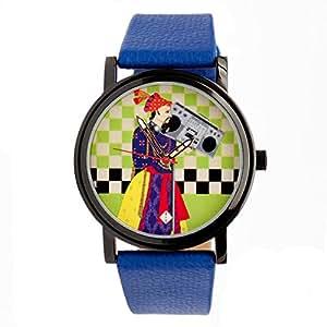 India Circus Retro Funk PU Leather Unisex Wrist Watch