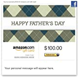 Amazon Gift Card - Facebook - Happy Father's Day (Argyle)