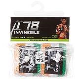 Invincible Stretch Mexican Style Nylon Hand Wraps, 4.5 Metres (Orange/White/Green)
