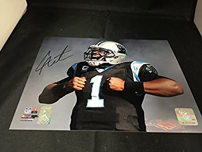 Cam Newton Signed Autographed Carolina Panthers 8x10 Photograph GTSM Personal Player Hologram