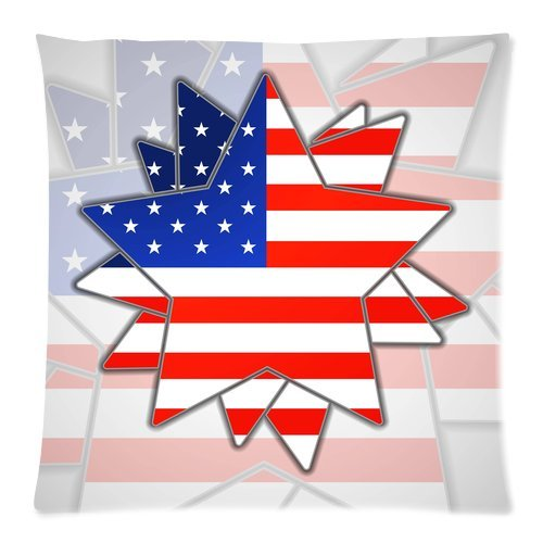 Yestore Custom Cotton American Flag 18X18 Inch Pillow Cushion Cases
