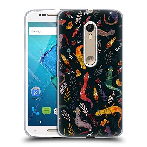 Ufficiale Oilikki Salamandra Pattern Animale Cover Morbida In Gel Per Motorola Moto X Style / Pure