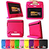 "Fintie Casebot Kiddie Series Light Weight Shock Proof Handle Case for Kids Specially made for Kindle Fire HD 7 (will only fit Kindle Fire HD 7"" 2nd Generation 2012), Magenta"