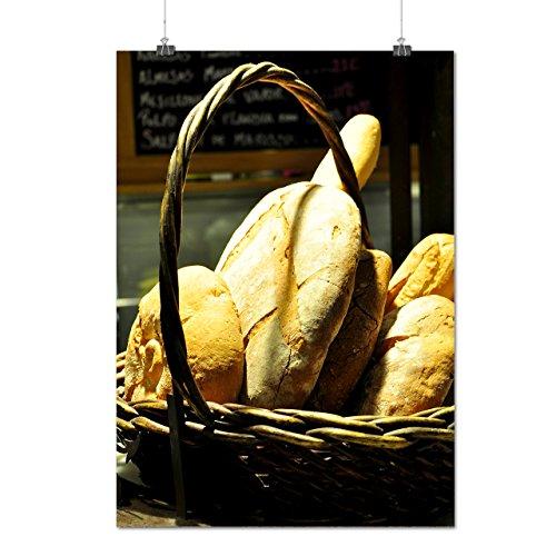 Basket De Pain Aliments Image Matte/Glacé Affiche A0 (119cm x 84cm) | Wellcoda