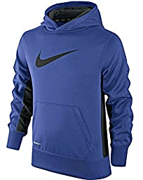 Nike 546157-411 Knockout Hoody 2.0 - Boy\'s youth 8-20 athletic hoody shirt (M 10-12)