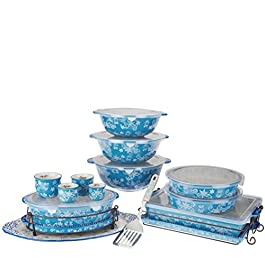 Temp-tations Floral Lace 18-pc Bake and Serve Set - Winter
