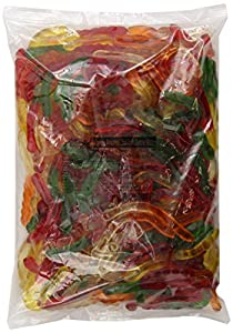 Albanese Assorted Mini  Fruit Worms 2-Inch, 5-Pounds