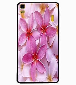 ColourCraft Lovely Flowers Design Back Case Cover for LENOVO A7000 PLUS