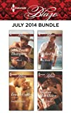 img - for Harlequin Blaze July 2014 Bundle: Riding Hard\Double Exposure\Wicked Sexy\Taken by Storm book / textbook / text book