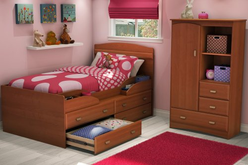 Cheap Twin Size Kids Bedroom Furniture Set 71 in Morgan Cherry – Imagine – South Shore Furniture – 3576-BSET-71 (3576-BSET-71)