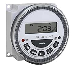 Walnut Innovations Multipurpose Programmable Digital Timer Time Switch With Lcd-5 Pin 8 Times On Off Per Day