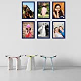 Elegant Arts & Frames High Quality PVC Group Collage Photo Frame Set Of 6 Blue