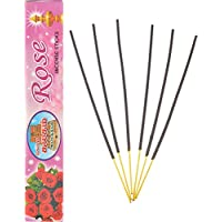 Gopura Kalasam Charcoal Powder Rose Incense Sticks (24 Cm, Black, Pack Of 10)