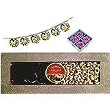 Skylofts 250gms Cashew Nuts, 250gms Chocolate Coated Nut Butterscotch Diwali Combo With 4pc Diya Set & Bandanwaar
