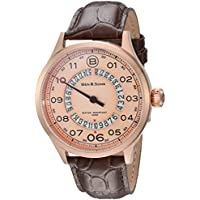 Ben and Sons Arrow Quartz Stainless Steel and Brown Leather Mens Automatic Watch (BS-10017-RG-016)