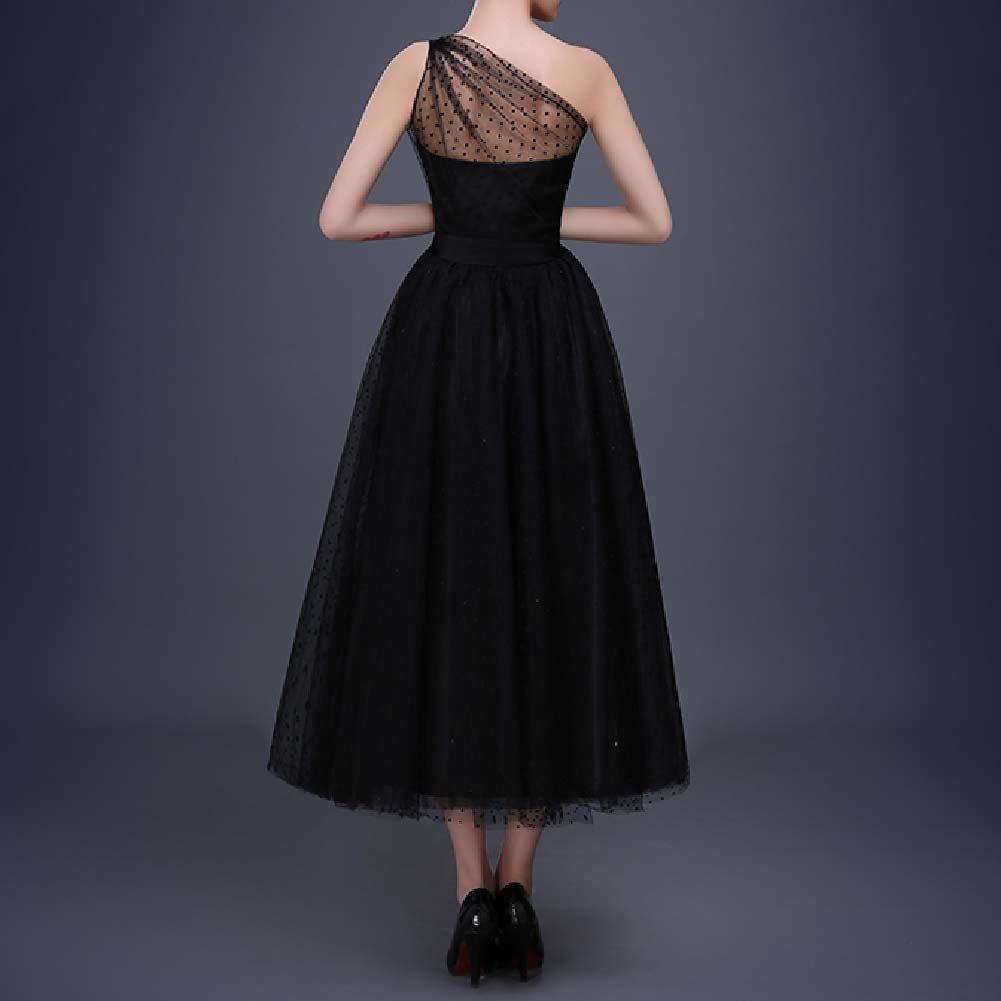 Favors Women's Vintage 50s Tea Length Cockatil One Shoulder Party Dresses WP07 2