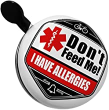 Bicycle Bell Medical Alert Red I Have Allergies by NEONBLOND