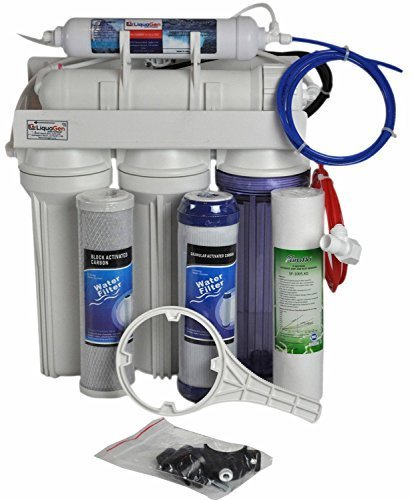 Replacement/Portable System- 5 Stage- Ultra Safe, High-Flow 50 GPD Reverse Osmosis Drinking Water Filter System| NSF Certified -Made in USA | LiquaGen
