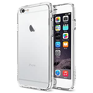 iPhone 6 Case, Spigen® [AIR CUSHION] Bumper [Ultra Hybrid Series] [Crystal Clear] Air Cushion Technology Bumper Case with Clear Back Panel for iPhone 6 (2014) - Crystal Clear (SGP10954)