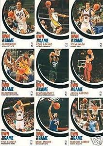 "2007 / 2008 Topps ""Own the Game"" Basketball Complete Mint 9 Card Insert Set (#Otg1-otg9) Including Kobe Bryant, Jason Kidd, Steve Nash, Baron Davis and Kevin Garnett Plus Mikki Moore, Kyle Korver, Jason Kapono and Marcus Camby."