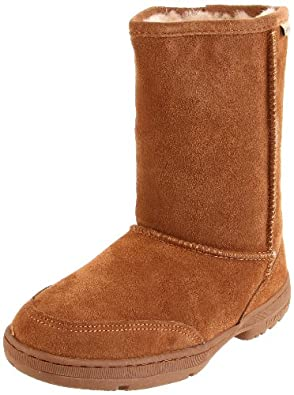BEARPAW Women's Meadow Short 604W Boot,Hickory/Champagne,5 M US