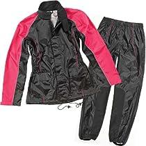 Big Sale Best Cheap Deals Joe Rocket RS-2 Women's 2-Piece Street Motorcycle Rain Suits - Black/Pink / Medium