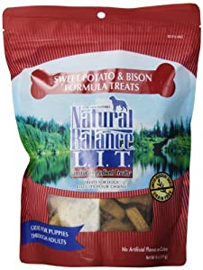 Natural Balance Limited Ingredient Treats, Sweet Potato and Bison Meal Formula for Dogs, 14-Ounce Bag