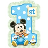 Baby Mickey Mouse 1st Birthday Invitations (8) Invites Disney Party Supplies