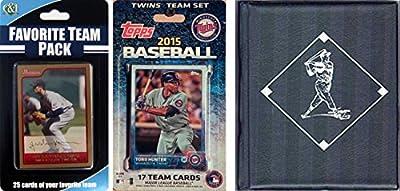 MLB Minnesota Twins Men's Licensed 2015 Topps Team Set and Favorite Player Trading Cards Plus Storage Album