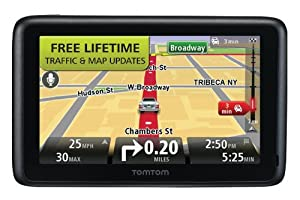 Tomtom Go 2535tm World Traveler 5-inch Bluetooth Gps Navigator With Lifetime Traffic & Maps And Voice Recognition