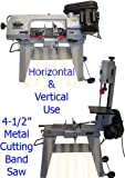 "4-1/2"" Metal Cutting Band Saw 4x6 Horizontal Vertical Band Saw"