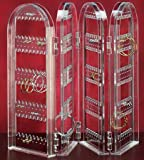 A-Express® Hinged Clear Acrylic Foldable Earring Display Stand Unit Holder
