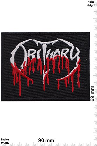 Patch - Obituary - blood - Death-Metal-Band - Musicpatch - Rock - Vest - Iron on Patch - toppa - applicazione - Ricamato termo-adesivo - Give Away