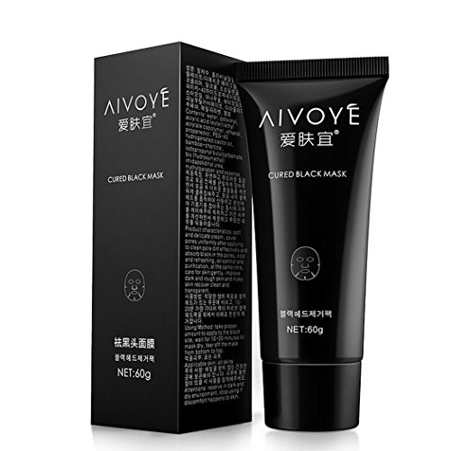 AFY Suction Black Mask Deep Cleansing Face Mask Tearing Resist Oily Skin Strawberry Nose Acne Remover Black Mud Face mask (pack of 1 boxes)