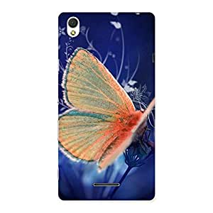 Delighted Yellow Thin Butterfly Back Case Cover for Sony Xperia T3