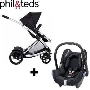 Phil & Teds Promenade Premium Baby - Sistema de viaje con silla de coche incluida por Phil & Teds / Maxi-Cosi en BebeHogar.com
