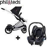 Phil & Teds Promenade Premium Baby Travel System (inc Car Seat)