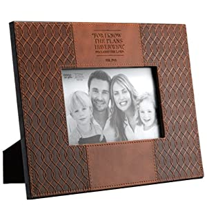 Jeremiah 29:11 Two-tone Faux Leather 4 x 6 Photo Frame