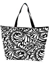 Snoogg Colorful Leaves Petals Designer Waterproof Bag Made Of High Strength Nylon