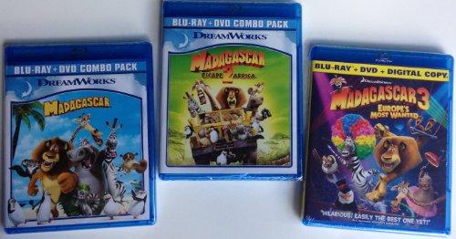 Madagascar 1-3 Blu Ray Bundle front-335499