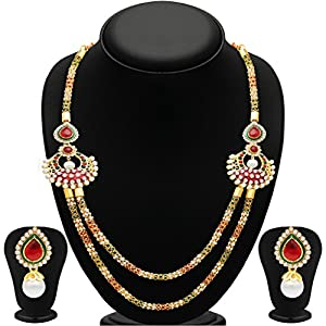 Sukkhi Pretty Two Strings Gold Plated Necklace Set