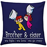 Giftsbymeeta Crazy Brother Sister Cushion (Rakhi Gifts Cushion:12x12 inches) RAKHIGIFTS8501