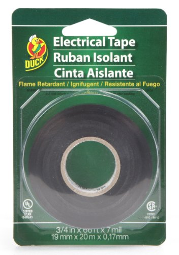 Duck Brand 551117 Professional Electrical Tape, 0.75-Inch By 66-Feet, Single Roll, Black