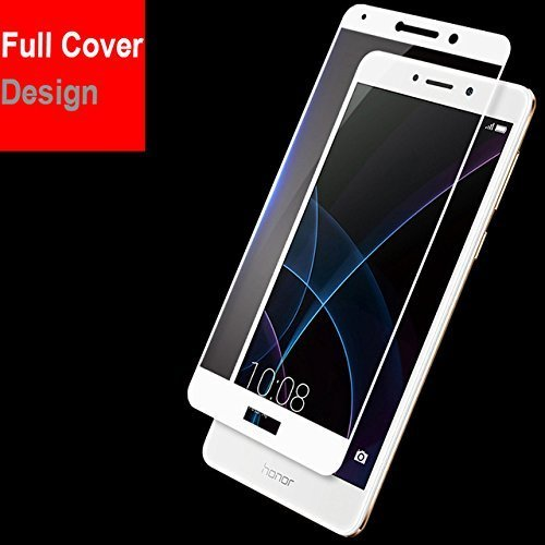 Kavacha (TM) Honor 6x Edge To Edge Full Front Body Cover Tempered Full Glass Screen Protector Guard For Huawei...