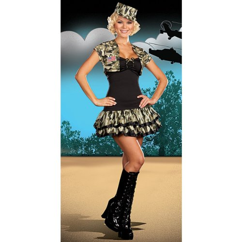 Soldier Girl Xlarge Size 14-16 Halloween or Theatre Costume