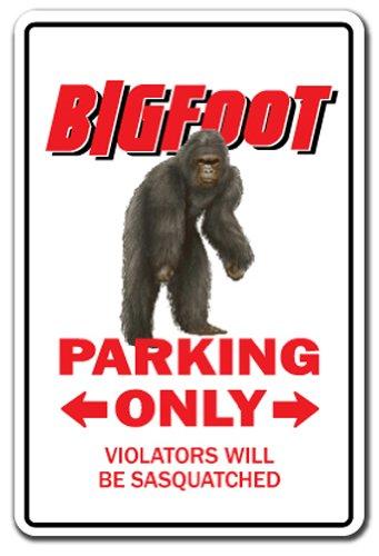 BIGFOOT Parking Sign gag novelty gift funny sasquatch animal folklore
