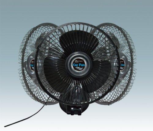 Meltec ( メルテック ) 車内扇風機 カーファン 強力吸盤・首振りタイプ 風量調整:2段階 ブラック CF-103 メルテック(meltec)