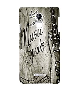 Music speaks Back Case Cover for Coolpad Note 3