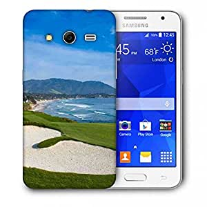 Snoogg Patches In Golf Park Printed Protective Phone Back Case Cover For Samsung Galaxy Core 2 / Core II G355H